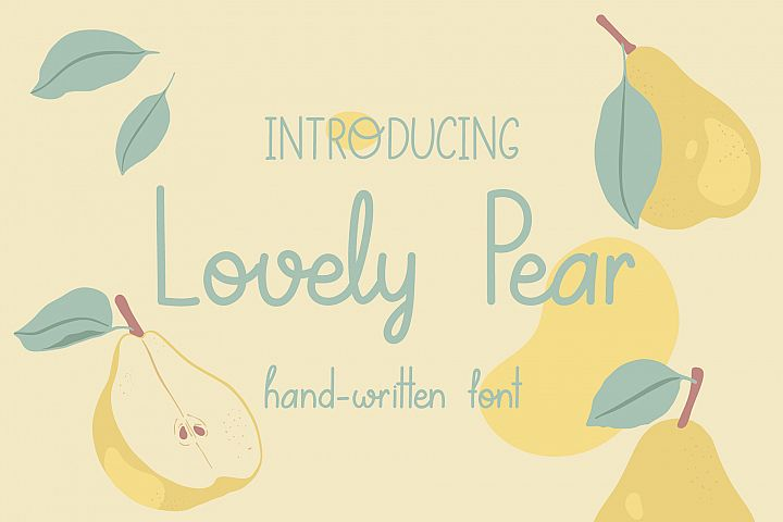 Lovely Pear   hand-written font