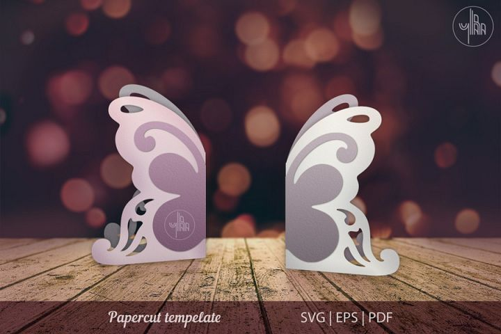 Butterfly papercut tempelate, SVG cutting file