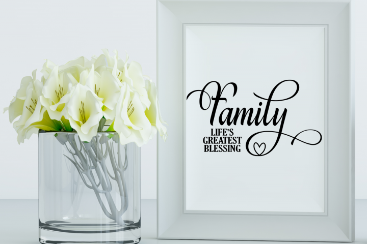 Family is lifes greatest blessing SVG Family SVG quote