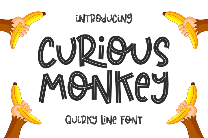 Curious Monkey -Quirky Line-