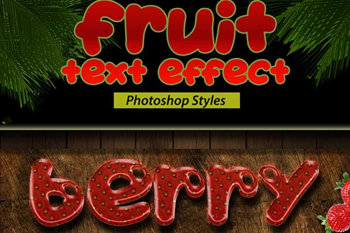Fruit Text Effect Styles