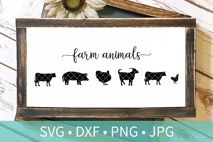 Farm Animal Sign SVG DXF PNG Cut File