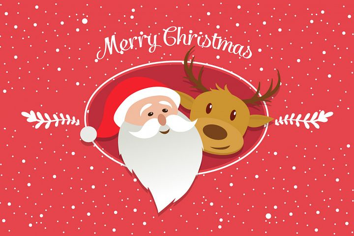 Merry Christmas characters vector