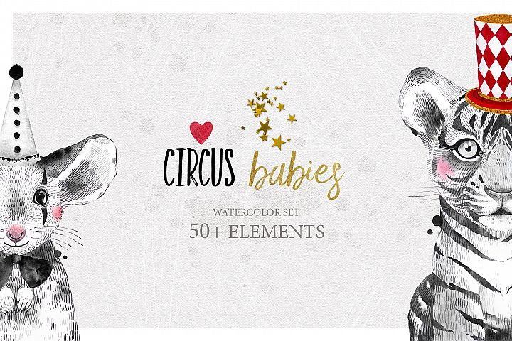 CIRCUS BABIES watercolor set