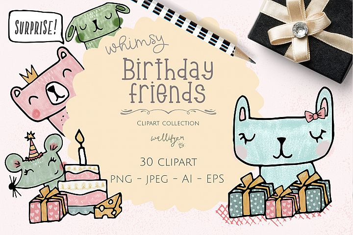 Birthday clipart collection