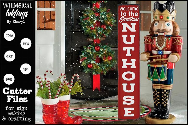 Christmas Nuthouse-Vertical SVG