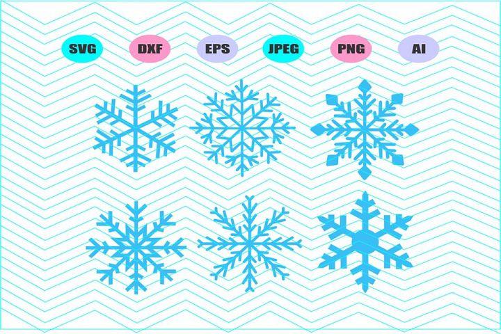 Snowflake Svg Vector File Silhouette Cricut Design Vinyl
