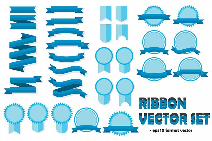 ribbon vector templates set