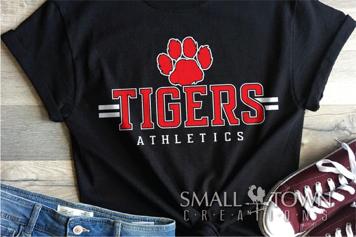 Tiger, Athletics, Sport, Team, Logo, PRINT, CUT, DESIGN