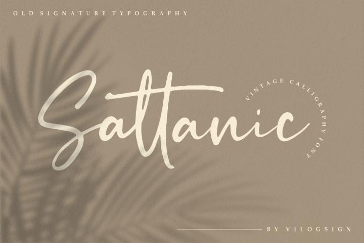 Sattanic Old Signature Typography Font