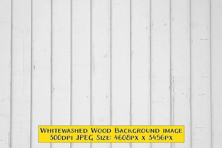 Whitewashed Wood Texture Background