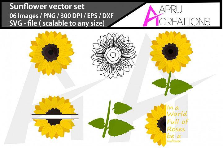 Sunflower vector graphics / sunflower outline svg