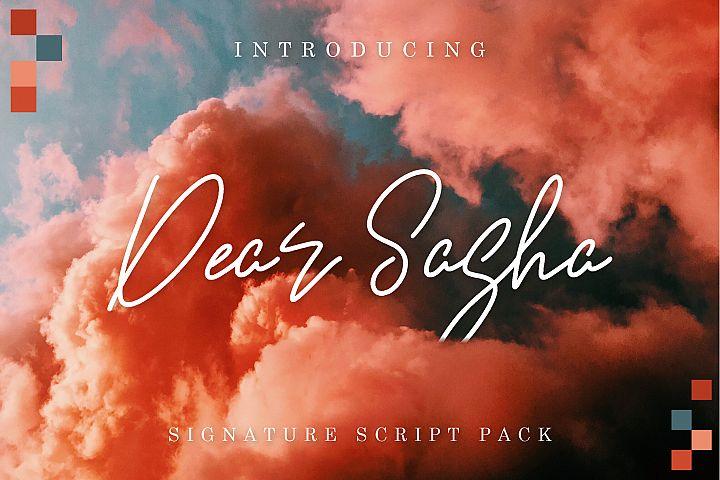 Dear Sasha Font Pack
