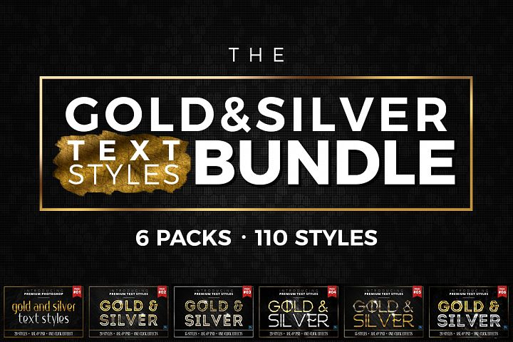 BUNDLE - Gold & Silver Text Styles