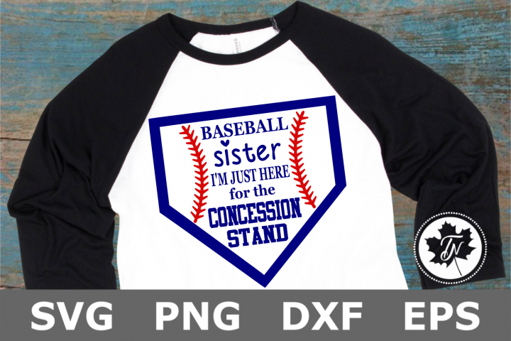 Baseball Sister Concession Stand - A Sports SVG Cut File