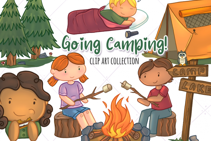 Going Camping Clip Art Collection