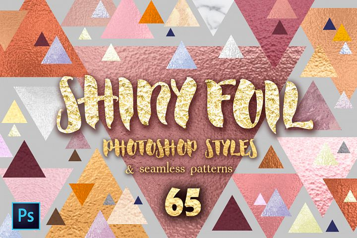 Shiny foils. Layer Styles for Photoshop