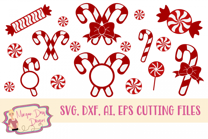 Peppermint Collection SVG, DXF, AI, EPS