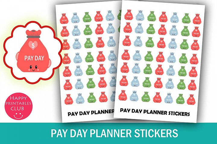 Pay Day Money Bag Planner Stickers- Pay Day Planner Stickers