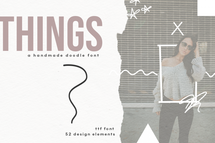 Things - A Doodle Design Font