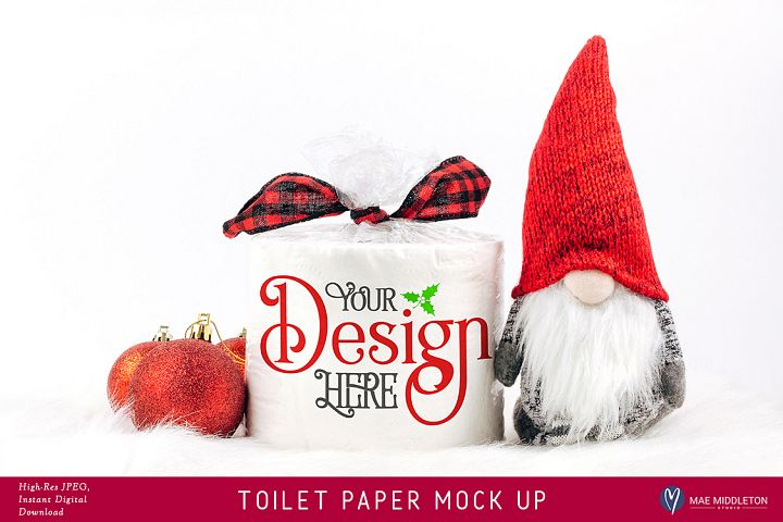 Toilet Paper Roll Mock up for Christmas II