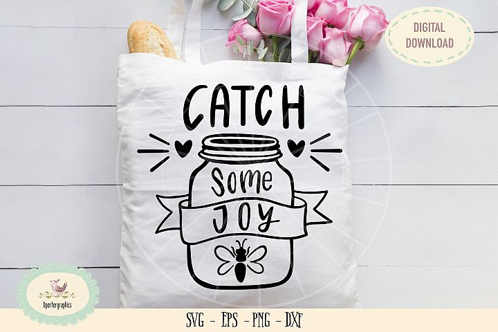 Catch some joy bee SVG PNG hand drawn
