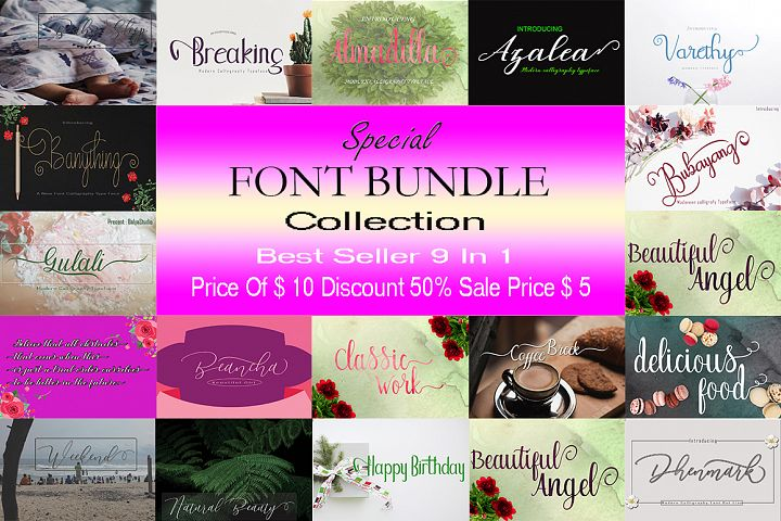 SPECIAL FONT BUNDLE COLLECTION