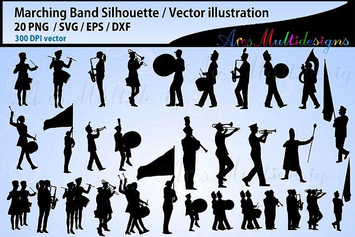 Marching Band SVG silhouette Bundle, Band SVG bundle, vector