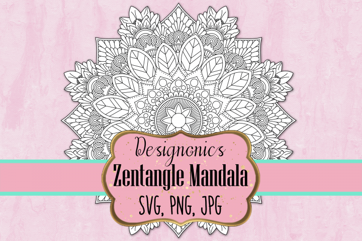 Zentangle Mandala 2 - SVG, PNG, JPG