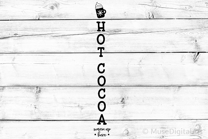 Christmas Porch Sign Svg, Hot Cocoa Porch Sign Svg, Welcome