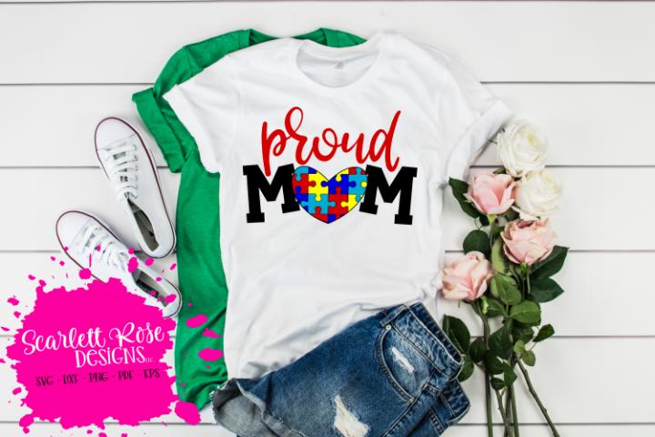 Proud Mom - Autism SVG