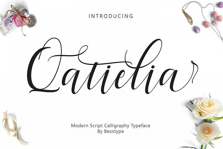 Qatielia Script | 3 Font Bonus