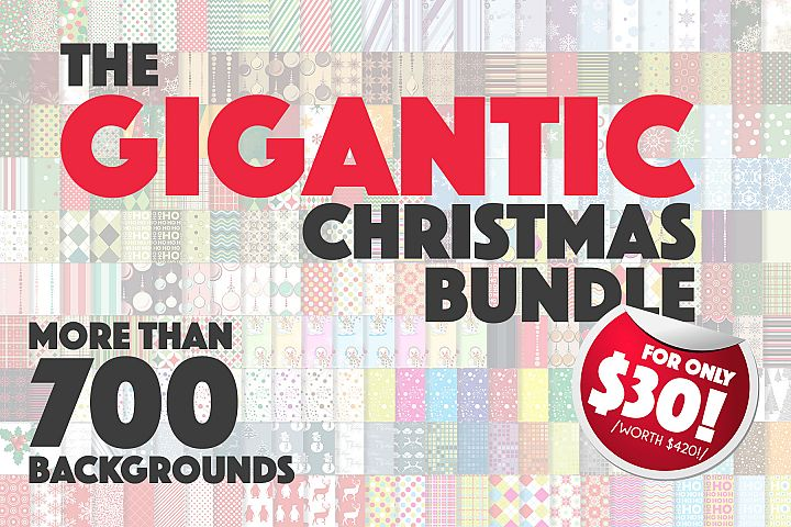 The GIGANTIC Christmas Bundle of Patterns