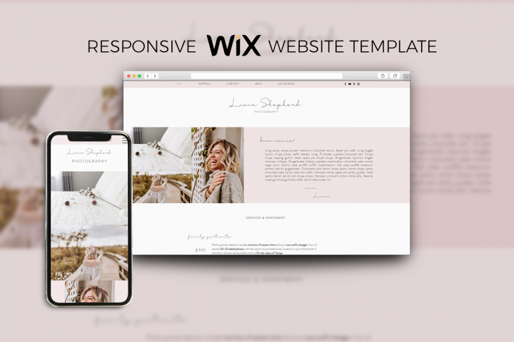 Wix Template One Page Website for Photographers Businesses