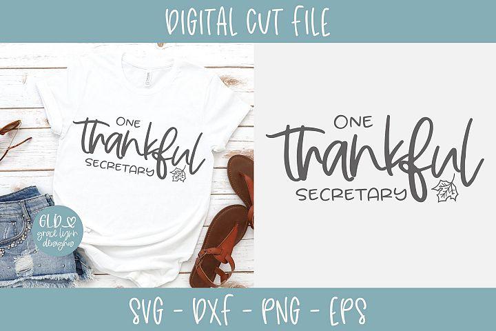 One Thankful Secretary - SVG