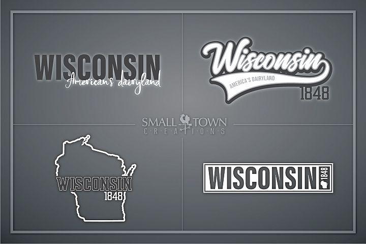 Wisconsin, Americas Dairyland, Logo, PRINT, CUT & DESIGN
