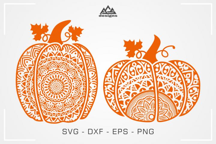 Pumpkin Mandala Fall Thankgiving Svg Design