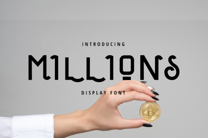Millions Display Font