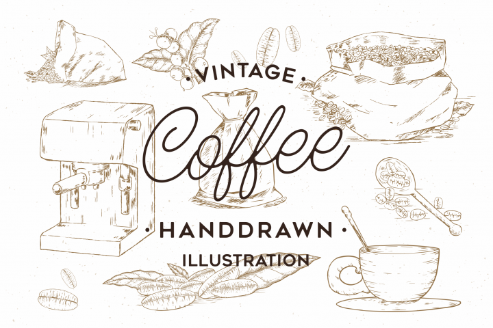 Vintage Coffee Handdrawn Illustration