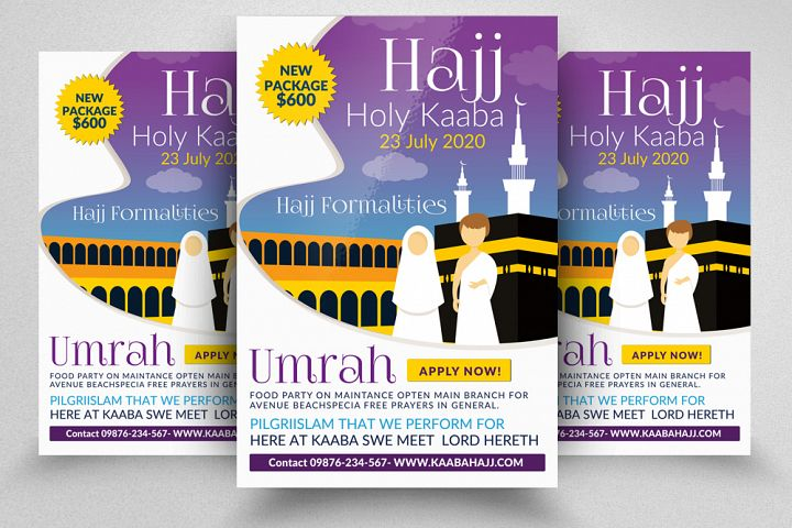 Hajj Performing Flyer Template