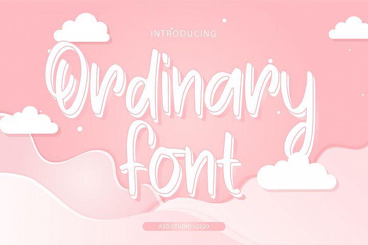 Ordinary Font