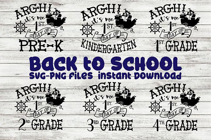 SVG Back To School Pirate Mini Bundle Pre-K Thru 4th Grade
