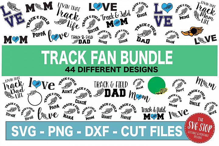 Track Fan Bundle -SVG, PNG, DXF