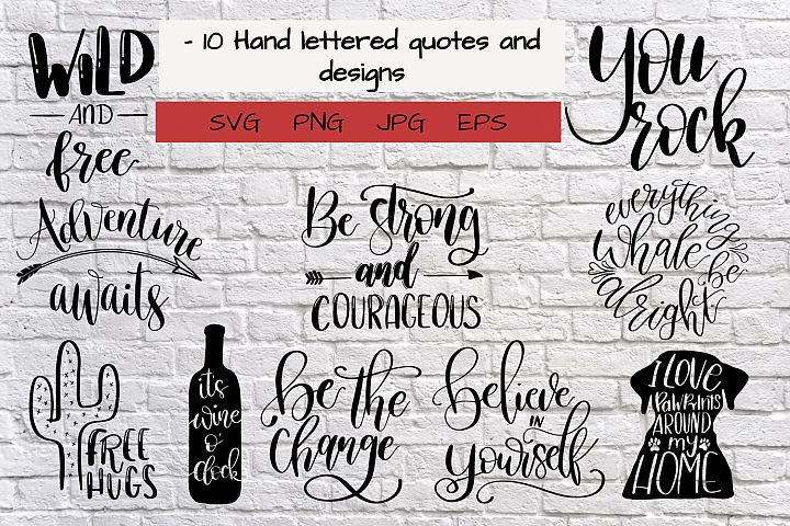 quotes bundle svg cutfile