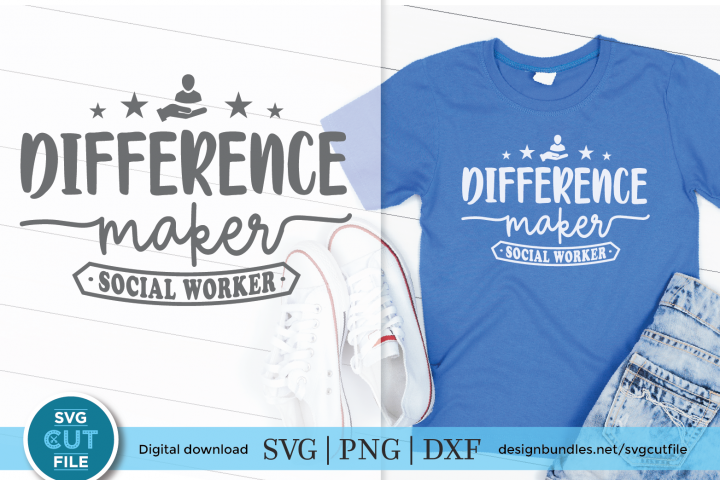 Social worker difference maker - a social worker svg or dxf