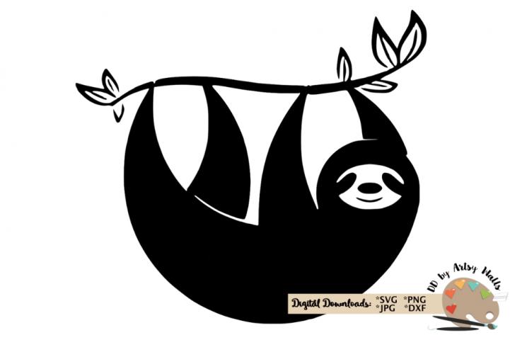 Sloth silhouette svg CUT FILE, Sloth svg funny cute Sloth
