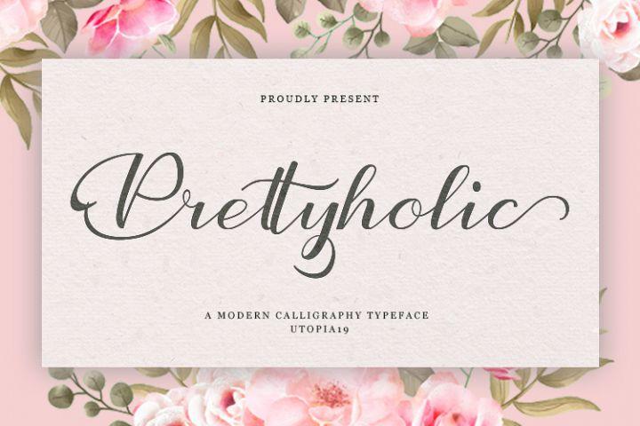 Prettyholic |Script Typeface
