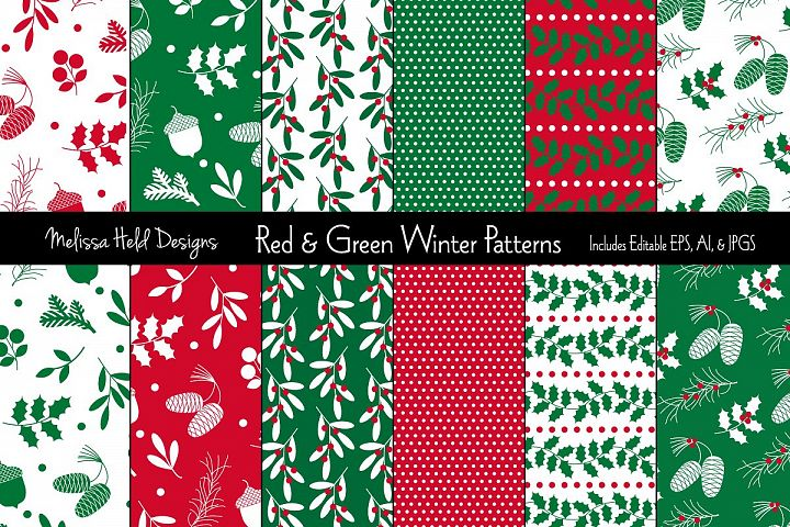 Red & Green Holiday Patterns
