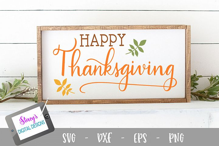 Thanksgiving SVG - Happy Thanksgiving example