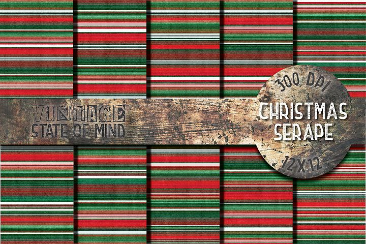 Christmas Serape Fabric Digital Papers